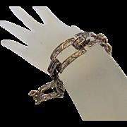 Sterling Silver Filagree Open Link Bracelet