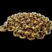 Vintage Quality Unsigned Hammered Goldtone Necklace