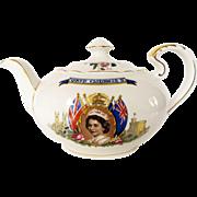 1953 Queen Elizabeth II Coronation Teapot by Aynsley