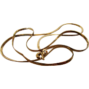 14 Karat Yellow Gold Snake Chain made in Italy
