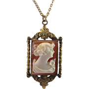 Vintage Gold Filled Cameo on Vintage Chain