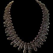Sterling Silver Marcasite Festoon Necklace