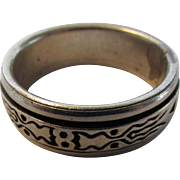 Sterling Silver Men's Ring With Spinning Inner Ring