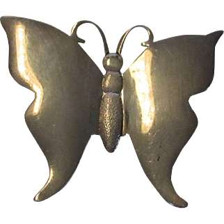 Sterling Silver Butterfly Pin or Pendant