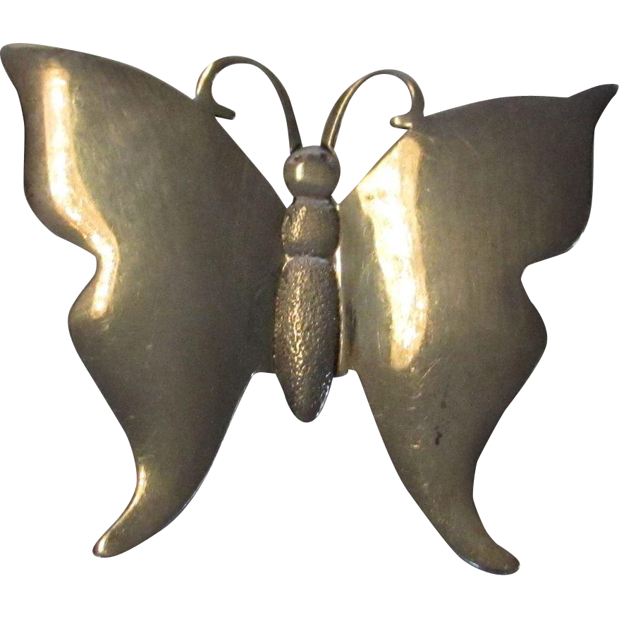 sterling silver butterfly pin or pendant from stylandgrace
