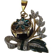 Coro Tremblant Pendant Originally part of a Coro Duette from the 1940's