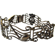 Sterling Silver Arts Themed Bracelet by Beau