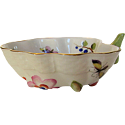 Vintage Herend Mini Beauty Sauce Bowl Fruits and Flowers With Floral Themed Handle