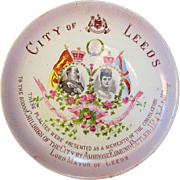 Edward VII and Queen Alexandra Coronation Plate From The City of Leeds 1902