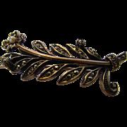 Vintage Sterling Marcasite Pin in Floral Form