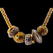 Vintage Swarovski Slide Necklace With Six Crystal Enhancements