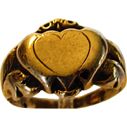10 Karat Yellow Gold Heart Ring