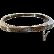 Sterling Silver Engraved Bangle