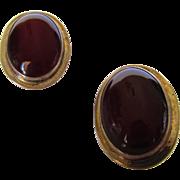 Sterling Silver Carnelian Pierced Earrings