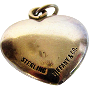 Sterling Silver Vintage Tiffany and Co. Puffed Heart Pendant