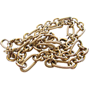 Sterling Silver Heavy Vintage Open Link Chain