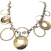 Sterling Silver Silpada Hammered Disk Necklace
