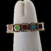 Sterling Silver Modernist Designer Enamelled Ring