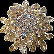 Vintage Juliana Clear Crystal Pin