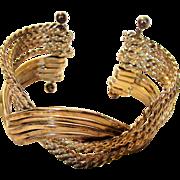 Silvertone Modernist Bracelet