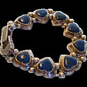 Sterling Silver Sodalite Slide Heart Bracelet