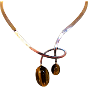 Sterling Silver Tigers Eye Necklace