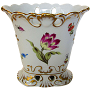 Herend Early Mark Vase in Butterfly Mushroom Pattern
