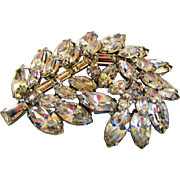 Vintage Juliana Floral Clear Crystal Pin