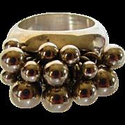 Sterling Silver Silpada Cha Cha Bead Ball Ring