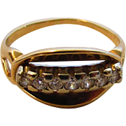 14 Karat Yellow Gold Ring With Seven Diamond Accent