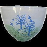 Kosta Boda Signed Swedish Art Glass Nature Theme Small Vase