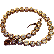 Sterling Silver Vermeil Bracelet With Clear Crystals