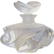 Lalique Swirl Glass Perfume in Swirl Pattern With Stopper