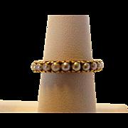 14 Karat Yellow Gold Cultured Pearl Eternity Ring