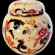 Vintage Mason of England Porcelain Ginger Jar in Mandalay Pattern