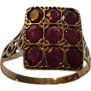 14 Karat Yellow Gold Deco Ruby Ring