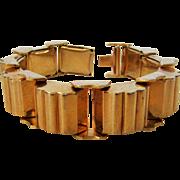 Vintage Mid Century Goldtone Geometric Bracelet