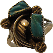 Sterling Silver Native American Ring In Turquoise