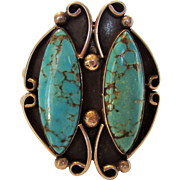 Sterling Silver Native American Turquoise Bangle