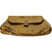 Vintage Whiting and Davis Jeweled Goldtone Clutch