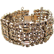 Vintage Beautiful Clear Crystal Bracelet With a Great Combination of Baguettes and Rounds