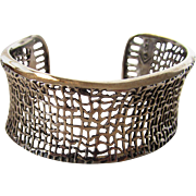 Sterling Silver Silpada Abstract Open Cuff