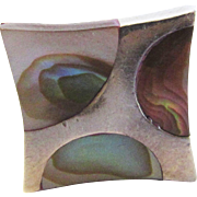 Sterling Silver Abalone Modernist Ring