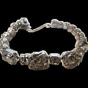 Vintage Eisenberg Ice Clear Crystal Bracelet Set in Silvertone