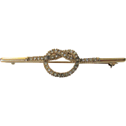 Vintage Ciner Goldtone Pin Accented With Clear Crystals