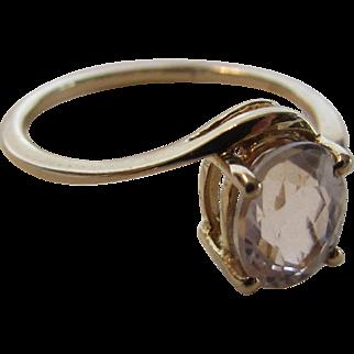 10 Karat Yellow Gold Morganite Ring