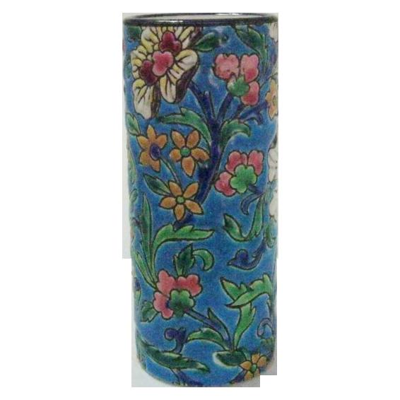 """Longwy 5 1/2"""" Cylinder Vase"""