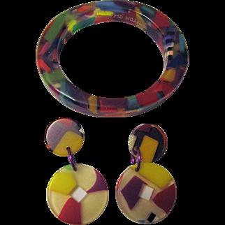 Karen McCreary Confetti Bangle Bracelet and Earrings