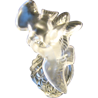 Signed Lalique Two Doves Perfume Bottle for Air Du Temps by Nina Ricca