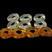 Set of Dorothy Thorpe Pretzel Twist Napkin Rings